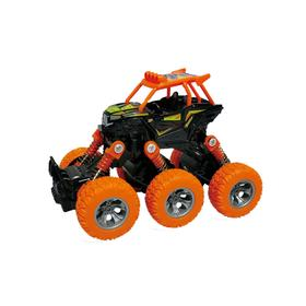 Багги, инерционный механизм, рессоры, 6×6, оранжевый