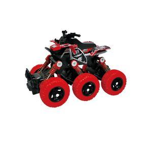 Квадроцикл, инерционный механизм, рессоры, 6×6, красный