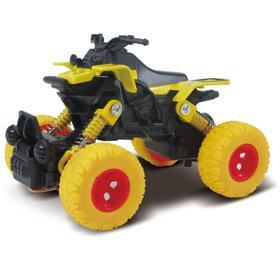 Квадроцикл, инерционный механизм, рессоры, жёлтый