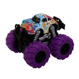 Машинка гоночная 4×4, фрикционная, двойной реверс, фиолетовые колеса