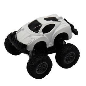 Машинка-мини гоночная, фрикционная, рессоры, белая