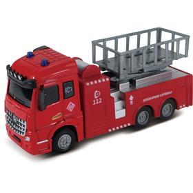 Пожарная машина с подъёмным механизмом, инерционный механизм, свет, звук