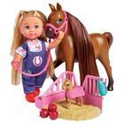 Кукла «Еви» 12 см, набор с беременной лошадкой
