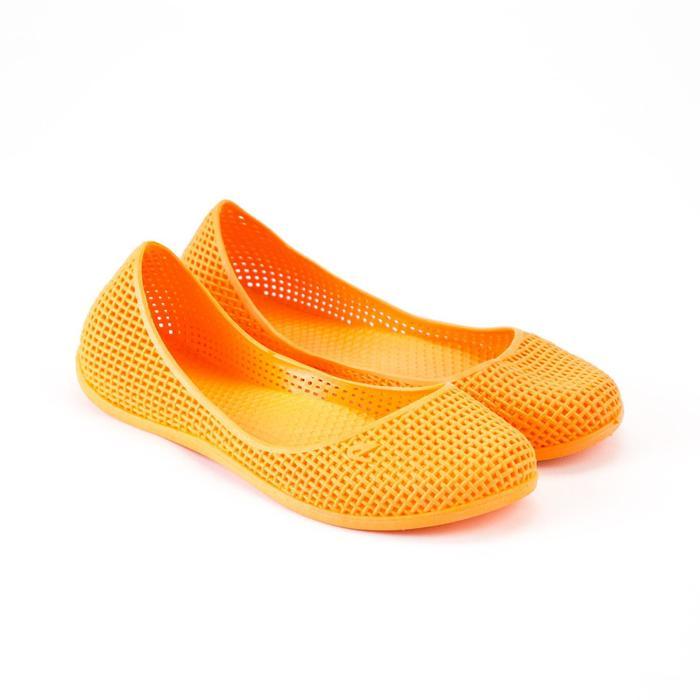 Аквашузы женские, цвет оранжевый, размер 38