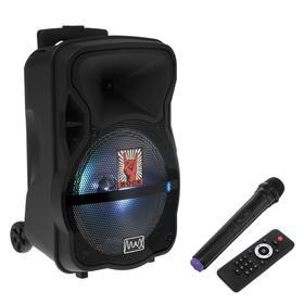 УЦЕНКА Портативная караоке система MAX Q80, 15 Вт, FM, AUX, micro SD, USB, BT, Li-Ion 4400 мАч 50952