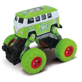 Автобус, инерционный механизм, рессоры, зелёный