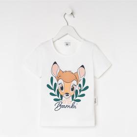 Футболка детская Bambi Disney, рост 86-92, белый