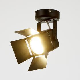 Светильник 5.0300, 1х50Вт GU5.3, цвет чёрный