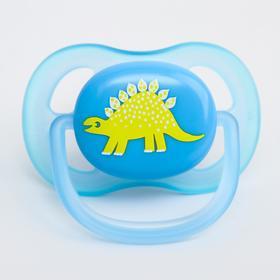 Соска-пустышка ортодонтическая, силикон, от 0 мес., серия Ultra air, для мальчика