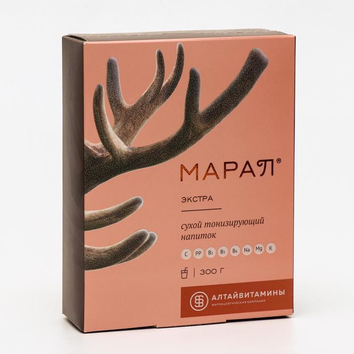 Напиток сухой тонизирующий «Марал экстра», энергетический, с витаминами С, PP, B6, B1, B5300 г