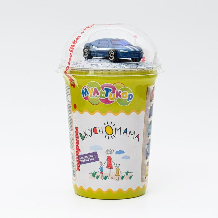 Кукурузные шарики в молочной кондитерской глазури с игрушкой «Мультикар -Сюрприз», 30 г