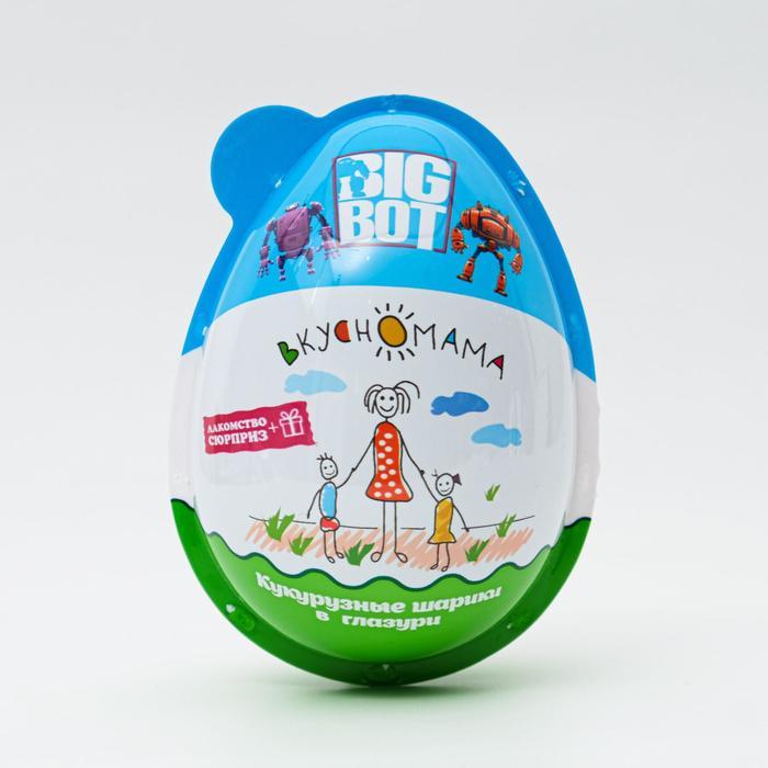 Кукурузные шарики в глазури Big Bot, + сюрприз, 30 г
