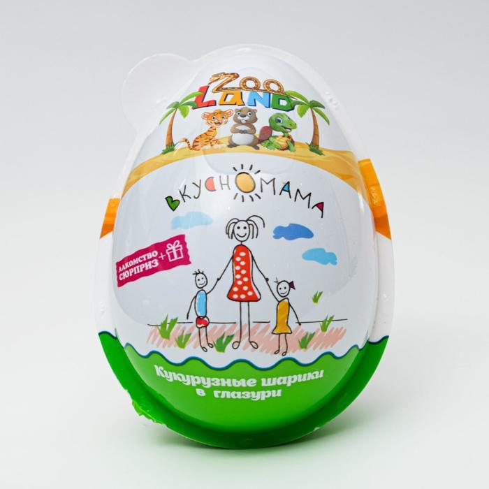 Кукурузные шарики в глазури Zoo Land, 30 г