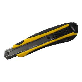 Нож строительный BERGER BG1354, двухкомпонентная обрезиненная рукоятка, 18 мм