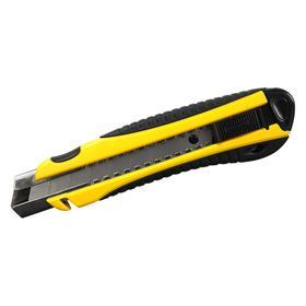 Нож строительный BERGER BG1355, двухкомпонентная обрезиненная рукоятка, 25 мм