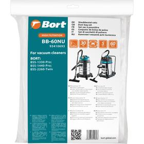 Мешок-пылесборник Bort BB-60NU, для пылесоса Bort BSS-1330-Pro/1440-Pro/2260-Twin, 5 шт