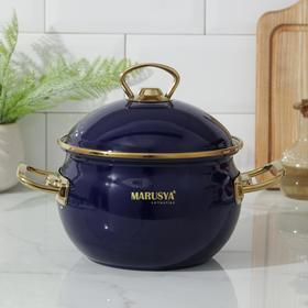 Кастрюля Маруся PREMIUM, 2,2 л, d=16 см, цвет синий