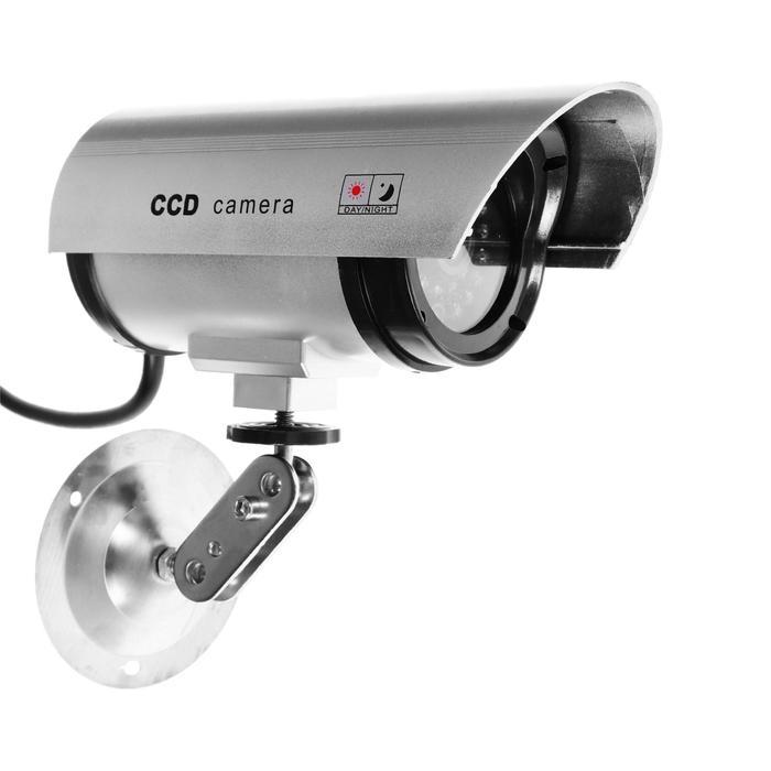 Муляж видеокамеры K-501MU, со светодиодным индикатором, 2хАА не в компл, серый