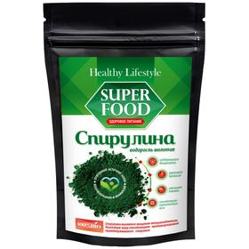 Спирулина Healthy Lifestyle, водоросль молотая, 100 г