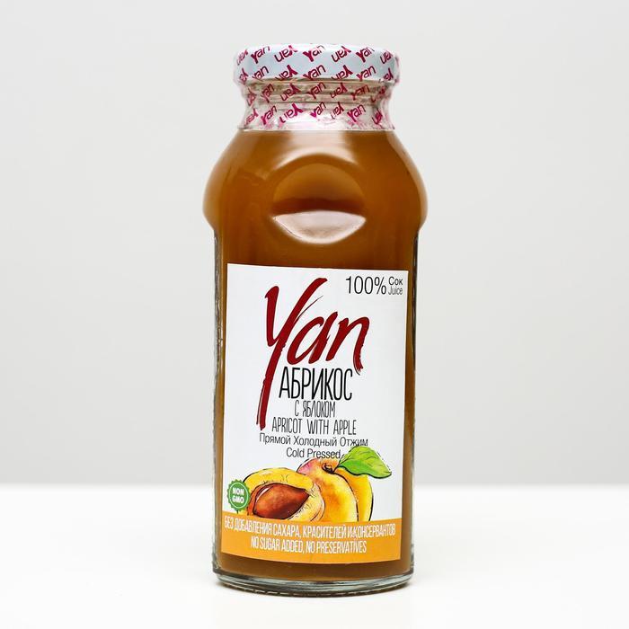 Абрикосово-яблочный сок YAN прямого холодного отжима, 250 мл