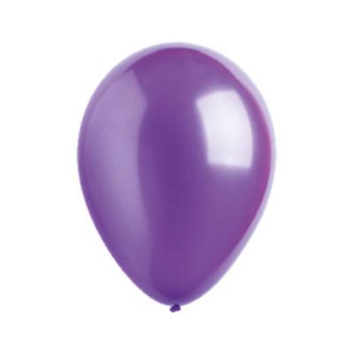 Шар латексный 5, металлик, водяные бомбочки, набор 10 шт., цвет фиолетовый