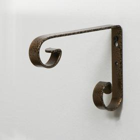 Кронштейн для кашпо, кованый, 17 см, металл, бронза Ош