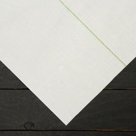 Агроткань застилочная, с разметкой, 10 × 1,05 м, плотность 100 г/м², полипропилен, белая, колышки - 10 шт., Nacsan Ош