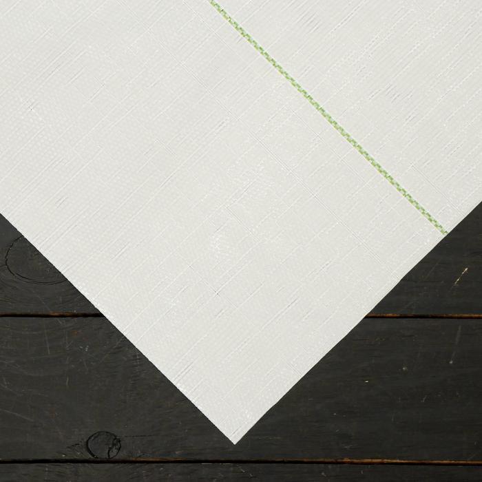 Агроткань застилочная, с разметкой, 10 × 2,1 м, плотность 100 г/м², полипропилен, белая, колышки - 10 шт., Nacsan