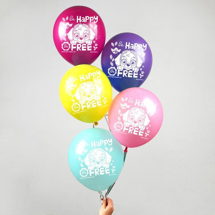 """Воздушные шары """"Be happy"""", Щенячий патруль (набор 5 шт) 12 дюйм"""