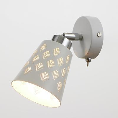 Светильник 23-71-80, 1х60Вт Е14, цвет белый - Фото 1