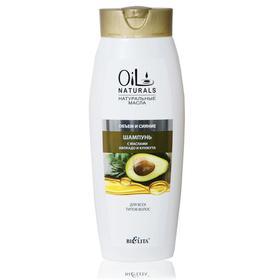 Шампунь с маслами авокадо и кунжута BIELITA OIL для всех типов волос, 430 мл