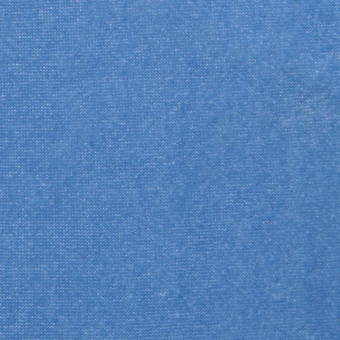 "Ворсовая ткань ""Плюш голубой №19"", ширина 160 см"