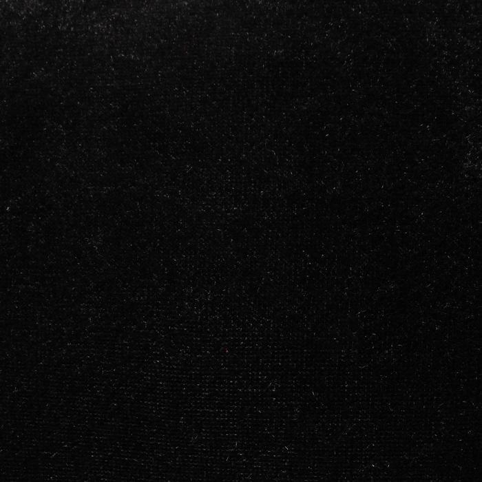 """Ворсовая ткань """"Плюш черный №11"""", ширина 160 см"""