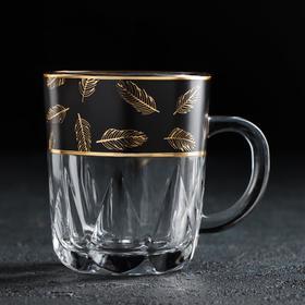 Кружка АС-ДЕКОР «Золотое перо. Блэк», 220 мл