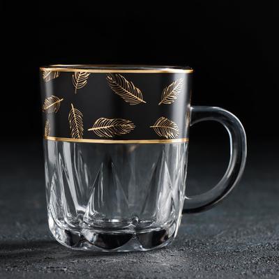 Кружка «Золотое перо. Блэк», 220 мл - Фото 1