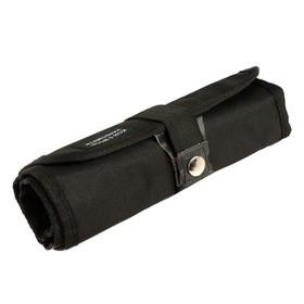 Пенал-рулон 24 предмета Koh-i-Noor 9050, без наполнения, текстильный на кнопке, черный Ош