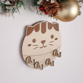 Ключница (4) 'Толстый кот', 14х14х0,3 см Ош