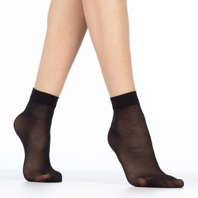 Носки женские EASY 40 lycra 40 ден (2 пары) цвет чёрный (nero), размер 23-25 (36-40) - Фото 1