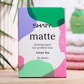Матирующие салфетки для лица Shary 'Зеленый чай' для проблемной кожи, 12г Ош