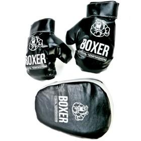 Боксёрский набор №7, лапа и перчатки, МИКС