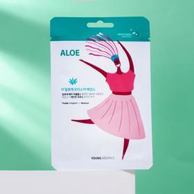 Тканевая маска-салфетка для лица Young Mediface, увлажняющая с экстрактом алоэ, 25 мл