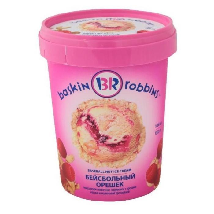 Мороженое Baskin robbins «Бейсбольный орешек», 1 л