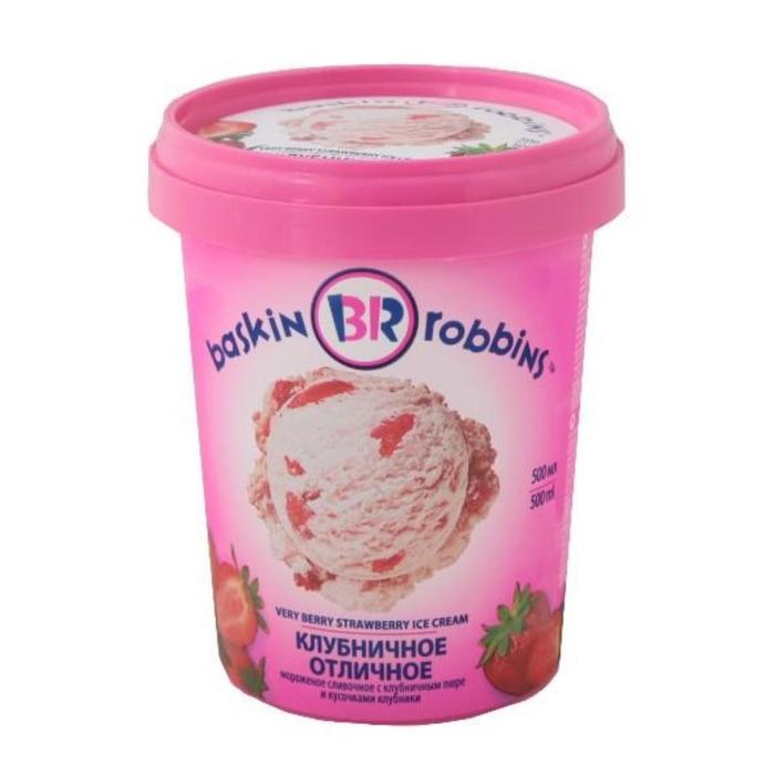 Мороженое Baskin robbins клубничное, 500 мл