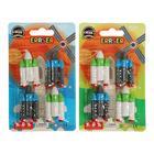 Набор ластиков фигурных 4 штуки МИКС Ракеты (штрихкод на штуке)