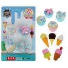 Набор ластиков фигурных 4 штуки МИКС Пирожное/Мороженое (штрихкод на штуке)