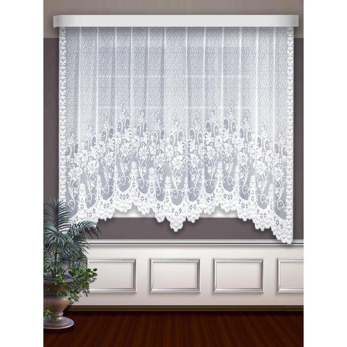 Гардина, размер 300 х 160 см, цвет белый