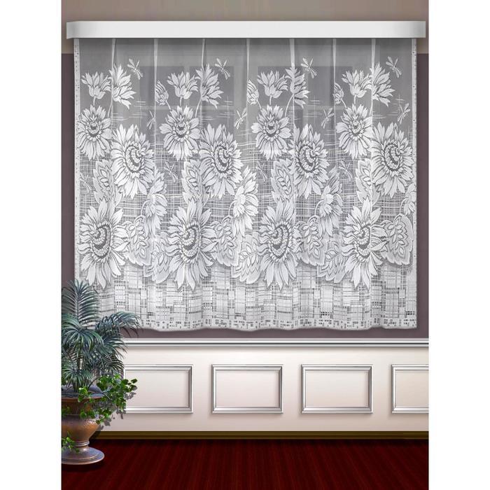 Гардина, размер 250 х 160 см, цвет белый
