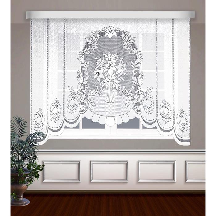 Гардина, размер 210 х 160 см, цвет белый