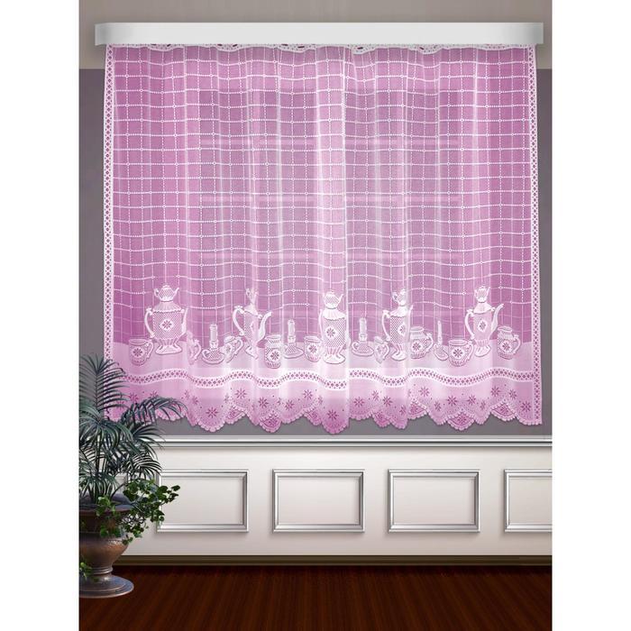 Гардина, размер 250 х 160 см, цвет розовый