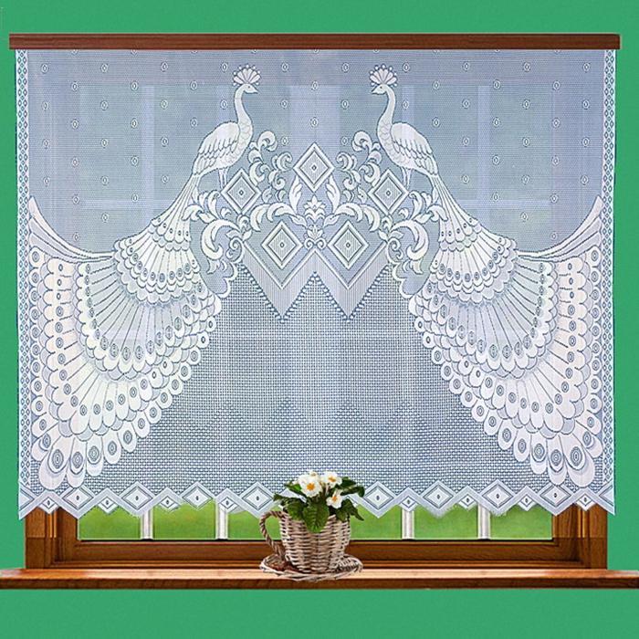 Гардина, размер 200 х 145 см, цвет белый